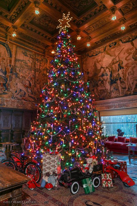 discover why the holiday season was an exceptionally festive time for mr hearst and his guests share in the splendor as you wind your way through the