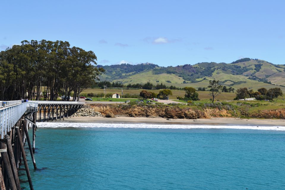 View of Hearst Memorial State Beach from the ocean