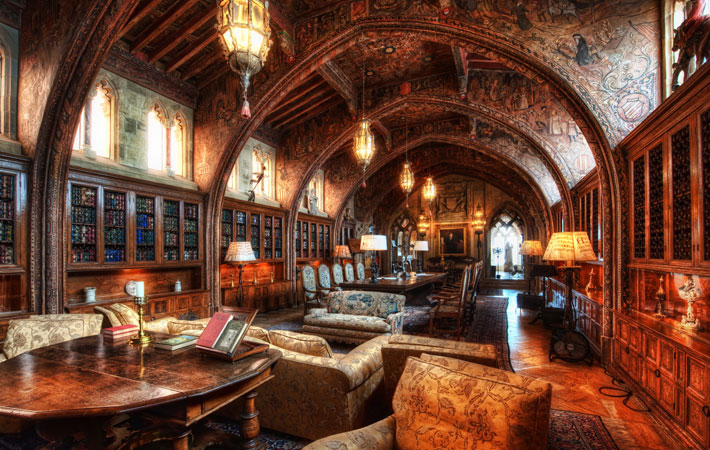 Gothic Study where William Randolph Hearst conducted business