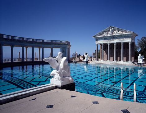 Hearst castle pools neptune pool and roman pool for Roman style pool design